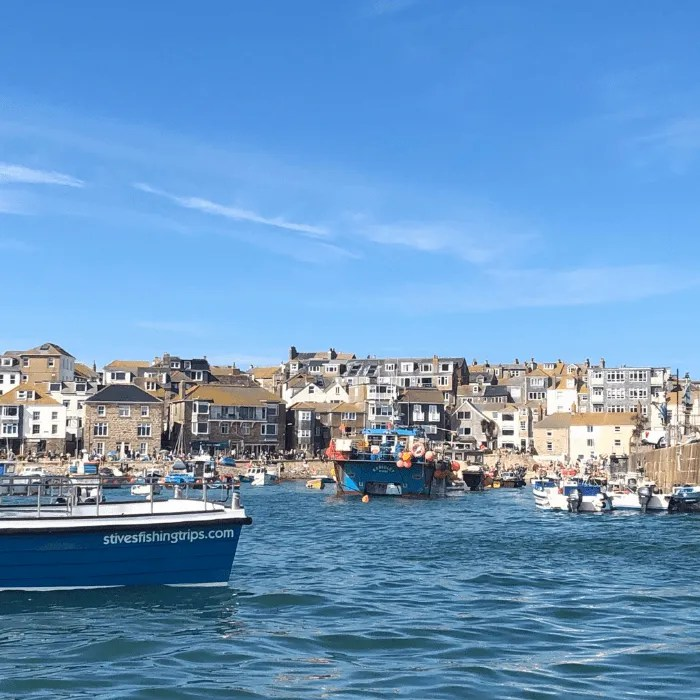 Fishing boats in the harbour at St Ives