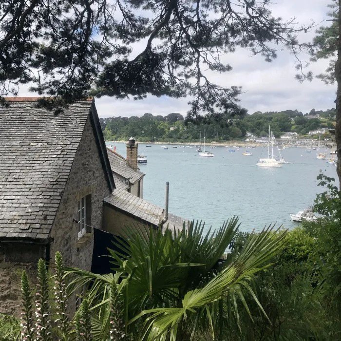 The corner of a house overlooking the Helford