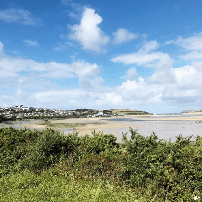 Padstow from the Camel Trail on a sunny day