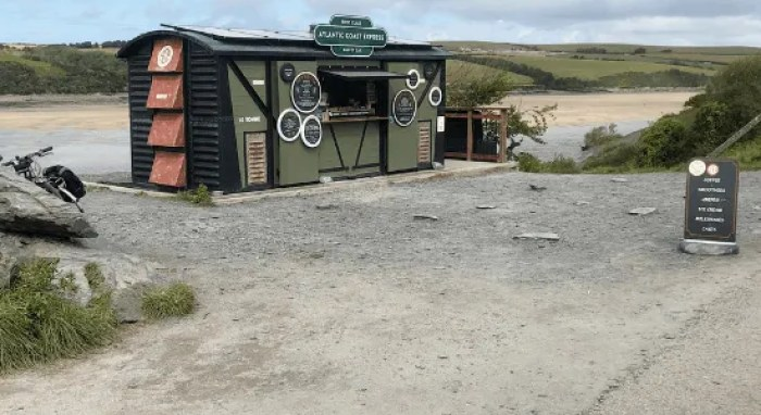 The Atlantic Coast Express coffee and tea hut on the Camel Trail