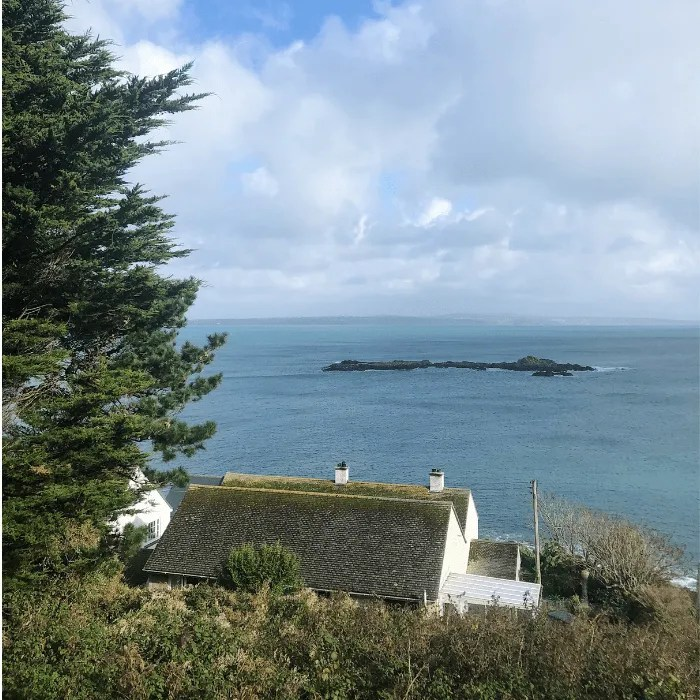 A house overlooking the sea on the south west coast path