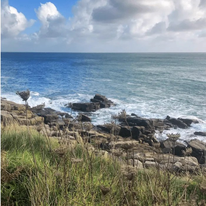 Rocks off the coast path in west Cornwall Slinke Dean