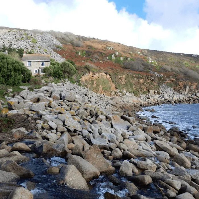 Lamorna Cove the house overlooking the sea