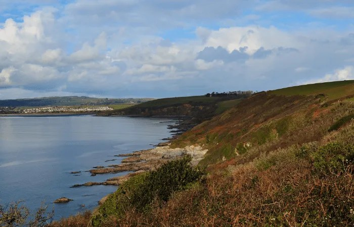 St Austell Bay from the south west coast path near Polkerris