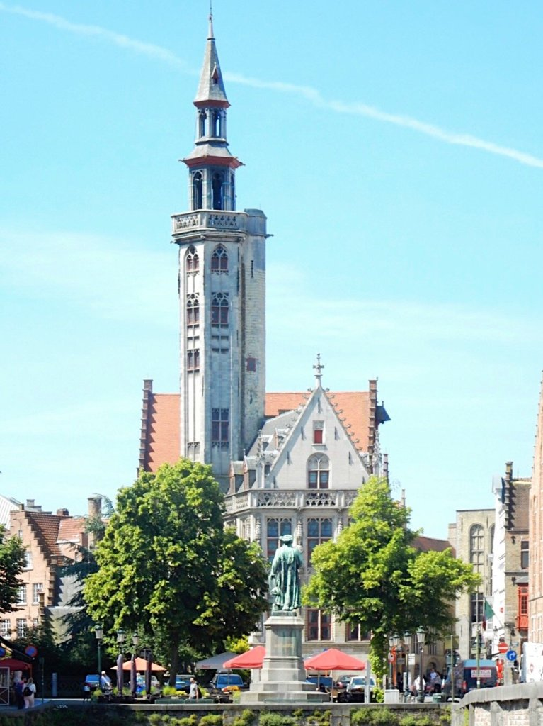 a tower in Bruges