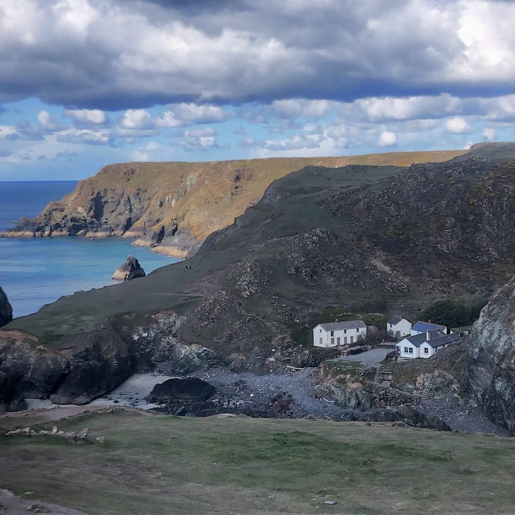 Sea and cliffs on the Lizard Peninsula Cornwall