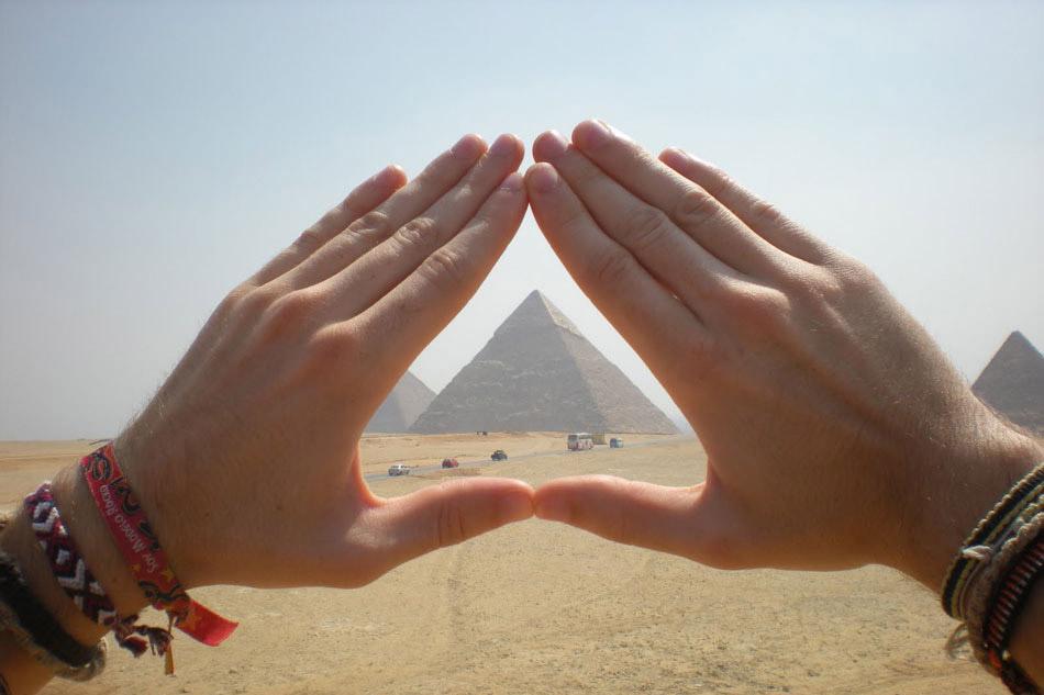 De pyramids van Giza