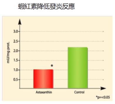蝦紅素降低發炎反應