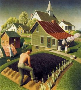 Grant Wood, Spring In Town The Great Order