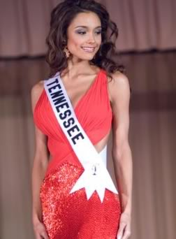Rachel easily topped over the other girls in Miss USA final show