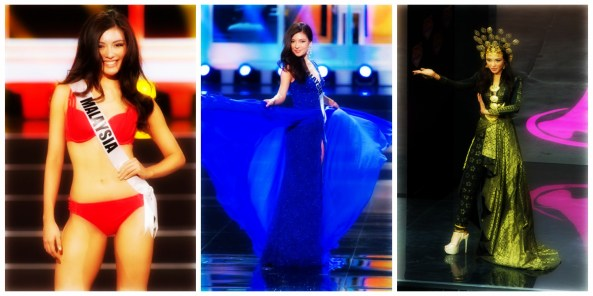 Carey Ng's performance at Miss Universe 2013 preliminary.