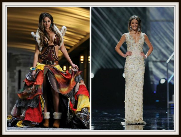 Jesinta Campbell in National Costume and Evening gown round of Miss Universe 2010