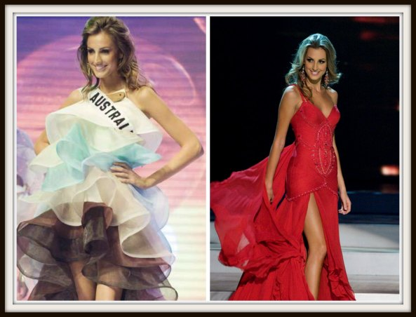 Laura Dundovic in National Costume and Evening gown round of Miss Universe 2008