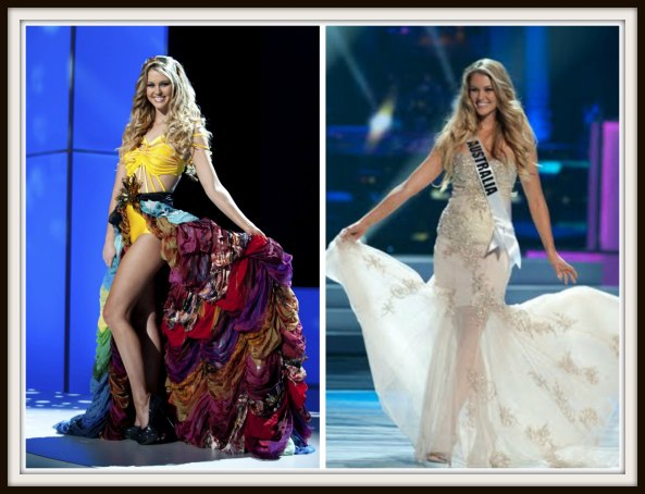 Scheri Lee Biggs in National Costume and Evening gown round of Miss Universe 2011