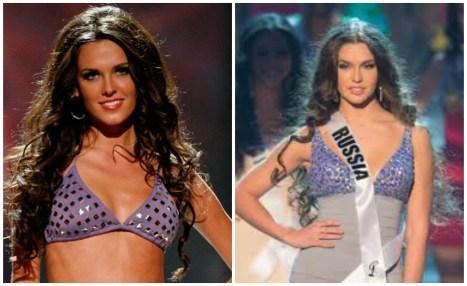 Irina and Elizaveta at Miss Universe 2010 and 2012