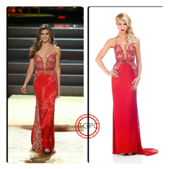 (Left to right)Miss USA 2013 Erin Brady during the Miss Universe 2013 Evening Gown round. Miss Illinois USA 2014 Lexi Atkins poses for  the evening gown Portrait  at Miss USA 2014.