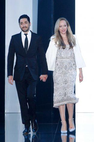 Australian fashion designers Tamara Ralph, right, and Michael Russo