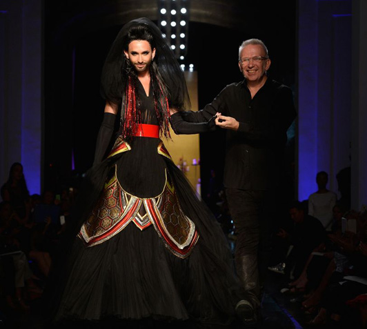 Conchita Wurst  with Fashion Designer jean Paul Gaultier