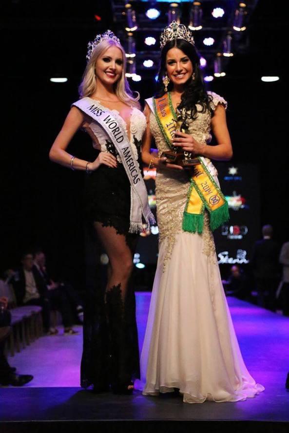 Miss World Brazil 2013~ with the New Miss World Brazil 2014~Julia Gama.