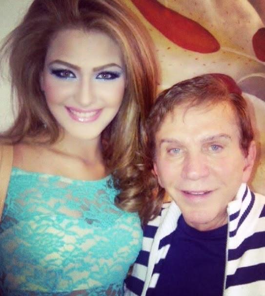 Migbelis Castellanos with  her mentor Osmel Sousa