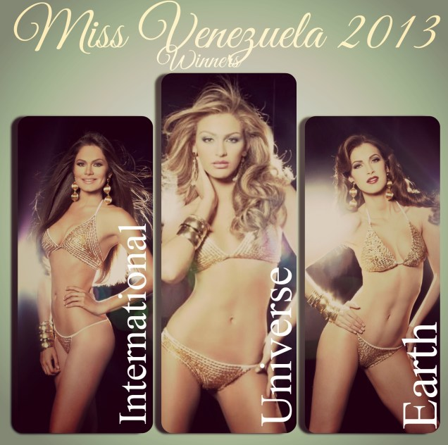 Miss Venezuela 2013 Winners during their Glam Shots