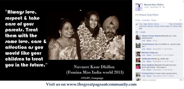 Navneet Kaur Dhillon, Miss India World 2013