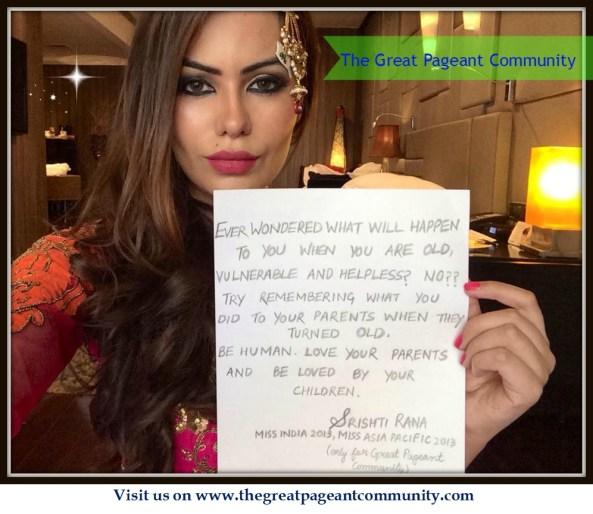 Shrishti Rana, Miss Asia Pacific World 2013