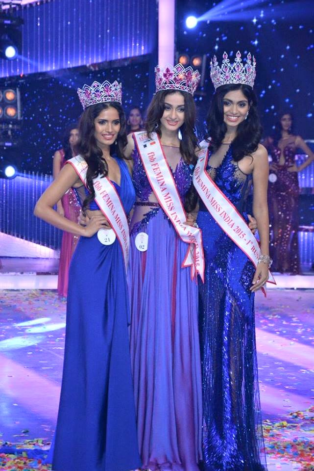 Winners of Femina Miss India 2015. Pic Courtesy: Femina Miss India FB Page