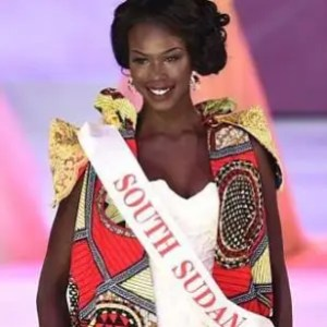 Wendy Kuanyin of South Sudan frequently updated her Facebook with amazingly positive thoughts.  No wonder she finished 2nd in the interview round!