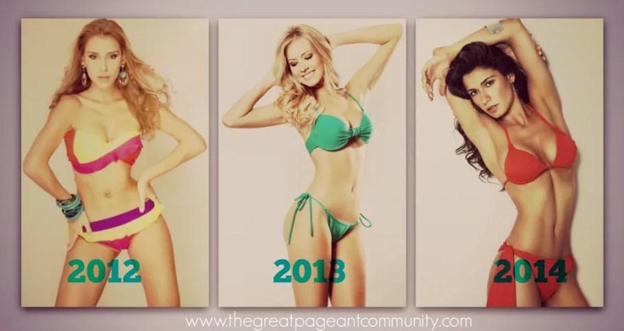 Brazilian Beauties: Mariana Notarangelo 2012, Sancler Frantz 2013, Julia Gama 2014