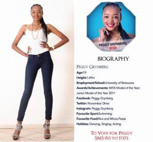 013 Peggy Grynberg Miss Botswana 2015 Contestants