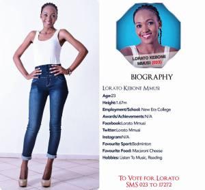 023 Lorato Kebone Mmusi Miss Botswana 2015 Contestants