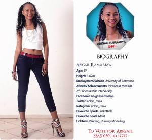 030 Abigail Ramaabya Miss Botswana 2015 Contestants