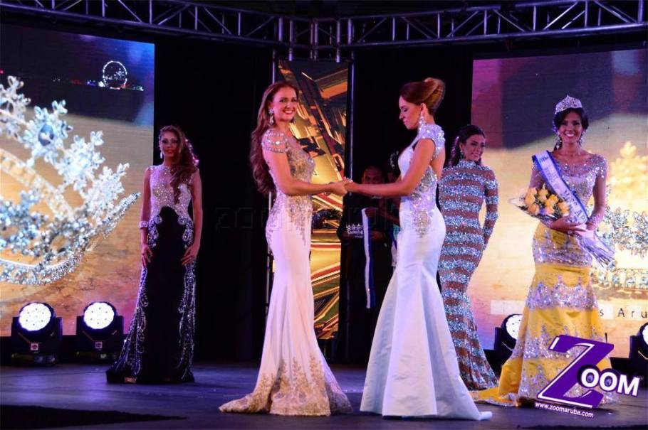 Miss Aruba 2015 Winners: Miss Universe Aruba 2015: Alysha Boekhoudt. Miss World Aruba 2015: Nicole van Tellingen.