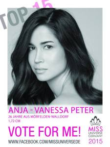Anja-Vanessa Peter Miss Universe Germany 2015 Contestants