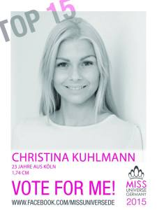 Christina Kuhlmann, Miss Universe Germany 2015 Contestants