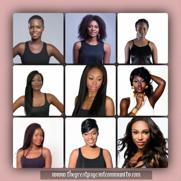 Miss Universe Ghana  2015 Contestants