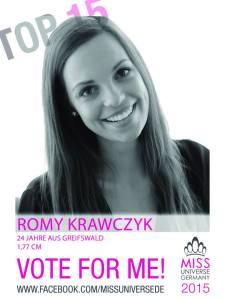 Romy Krawczyk, Miss Universe Germany 2015 Contestants