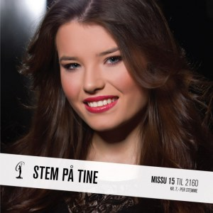 Tine Miss Universe Norway 2015 Contestants