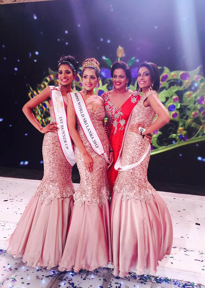 Miss World Sri Lanka 2015- Thilini Amarasooriya (center) with her runner ups