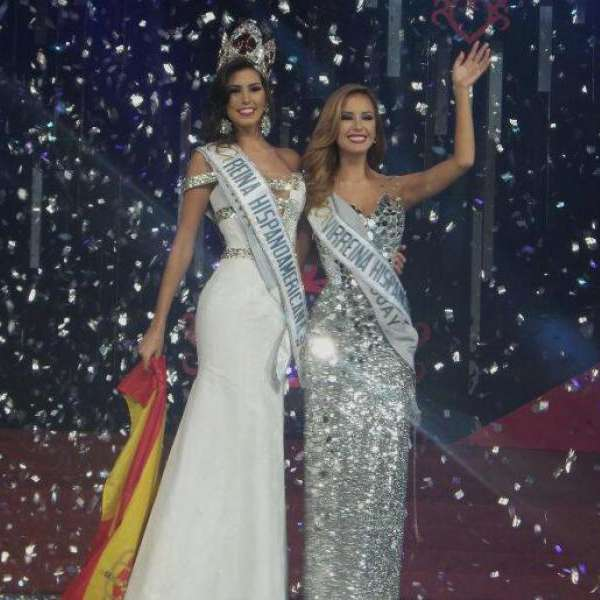 Sofia del Prado Prieto from Spain crowned Reina Hispanoamericana 2015