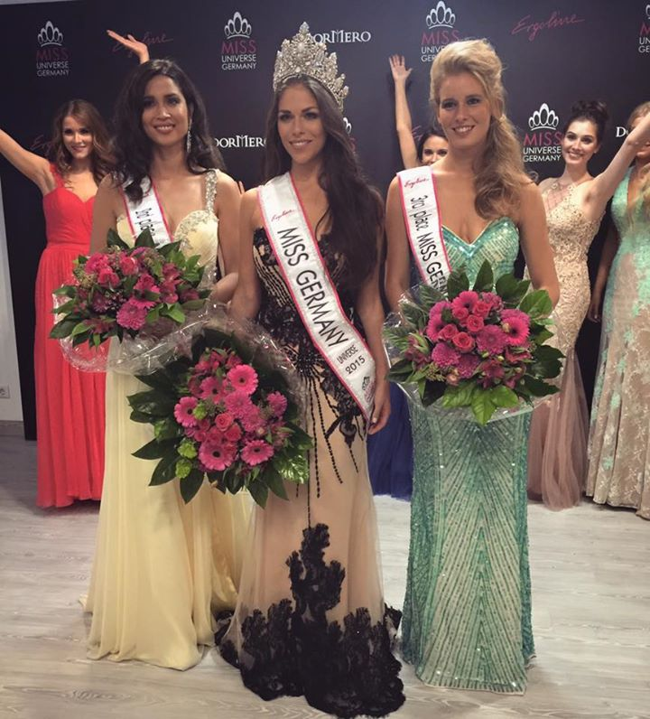 Miss Universe Germany 2015 - Sarah-Lorraine Riek with her runner ups