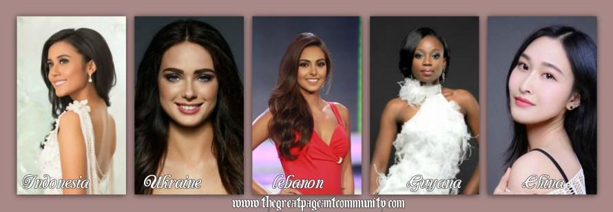 Miss World 2015 hot favorite contestants