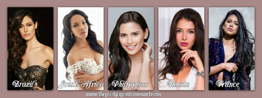 Miss World 2015 hot favorite contestants