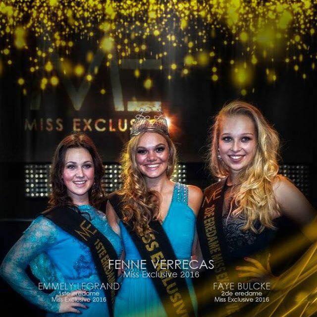 Fenne Verrecas crowned Miss Exclusive 2016
