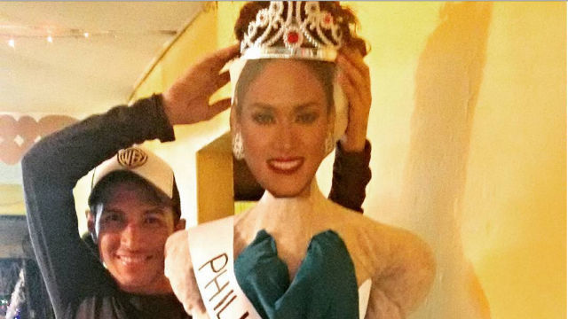 Colombian burning Pia Wurtzbach's Effigy