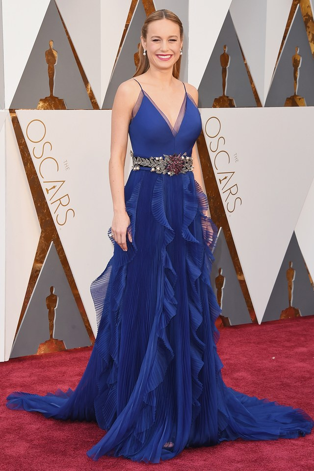 Brie Larson in Gucci she was in our worst list in Best and the worst dressed at Oscars 2016