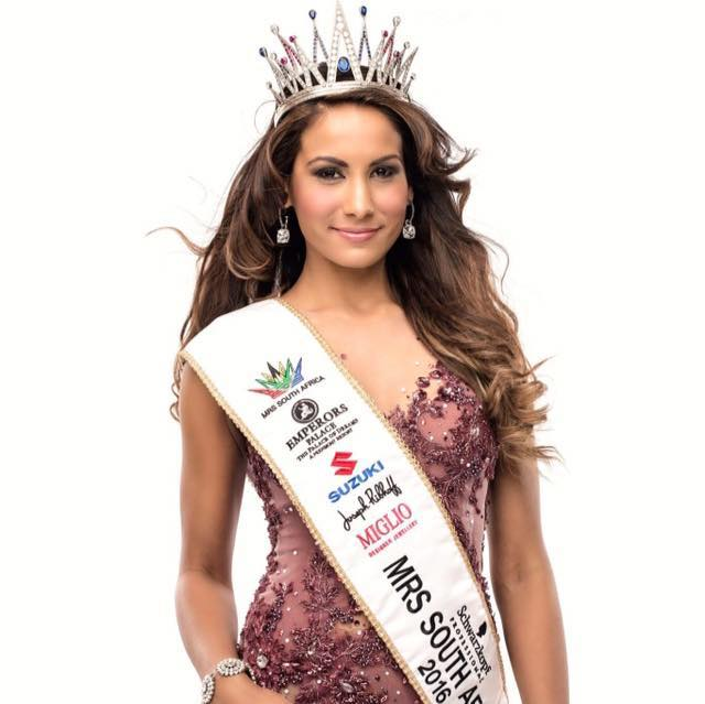 Candice Abrahams of South Africa is Mrs. World 2016