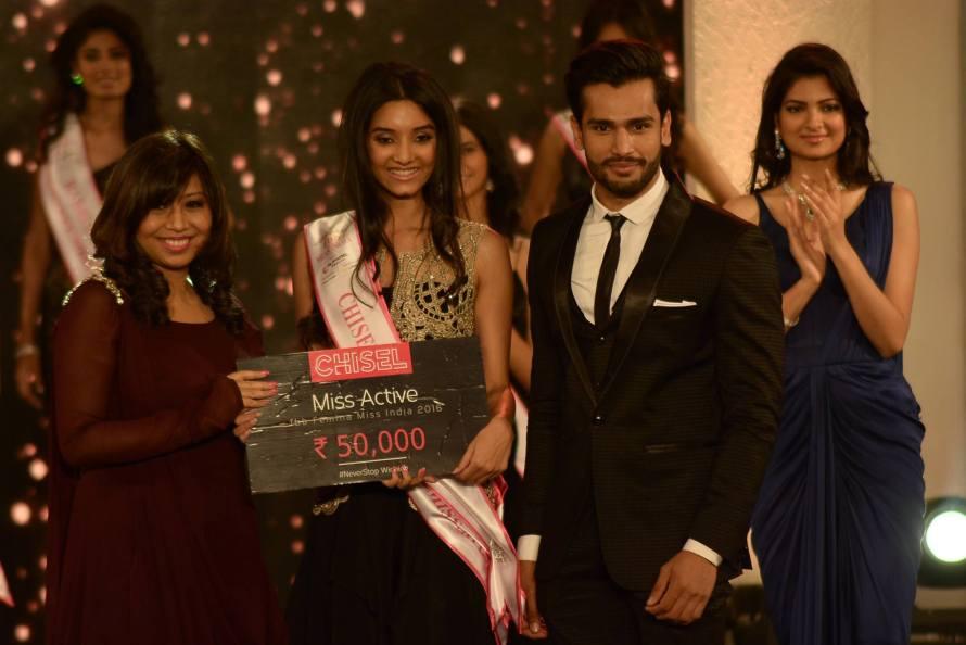 Vaishnavi Patwardhan won Chisel Miss Active at Femina Miss India 2016 Sub Contest
