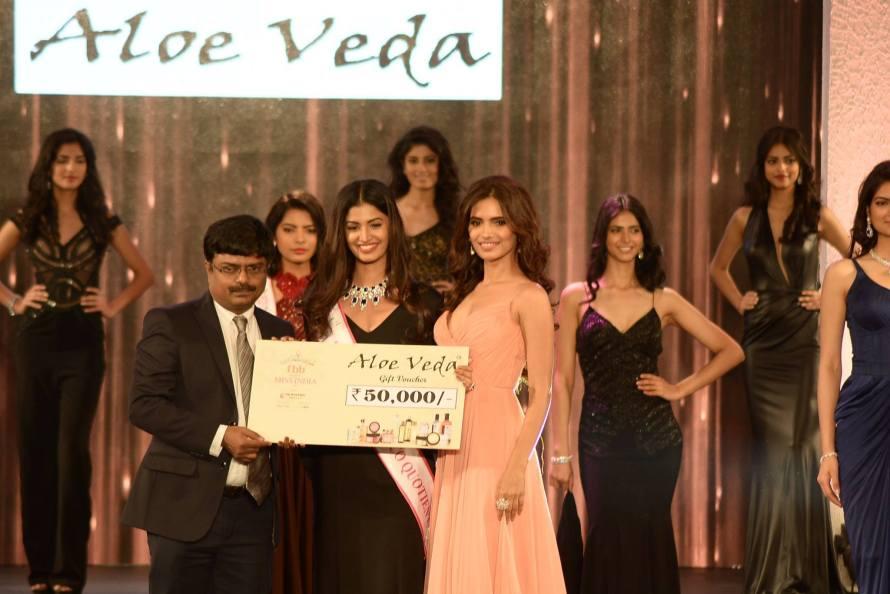 Sushruthi Krishna won Aloe Veda Miss Eco Quotient- at Femina Miss India 2016 Sub COntest